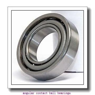 90 mm x 140 mm x 24 mm  ISO 7018 B angular contact ball bearings